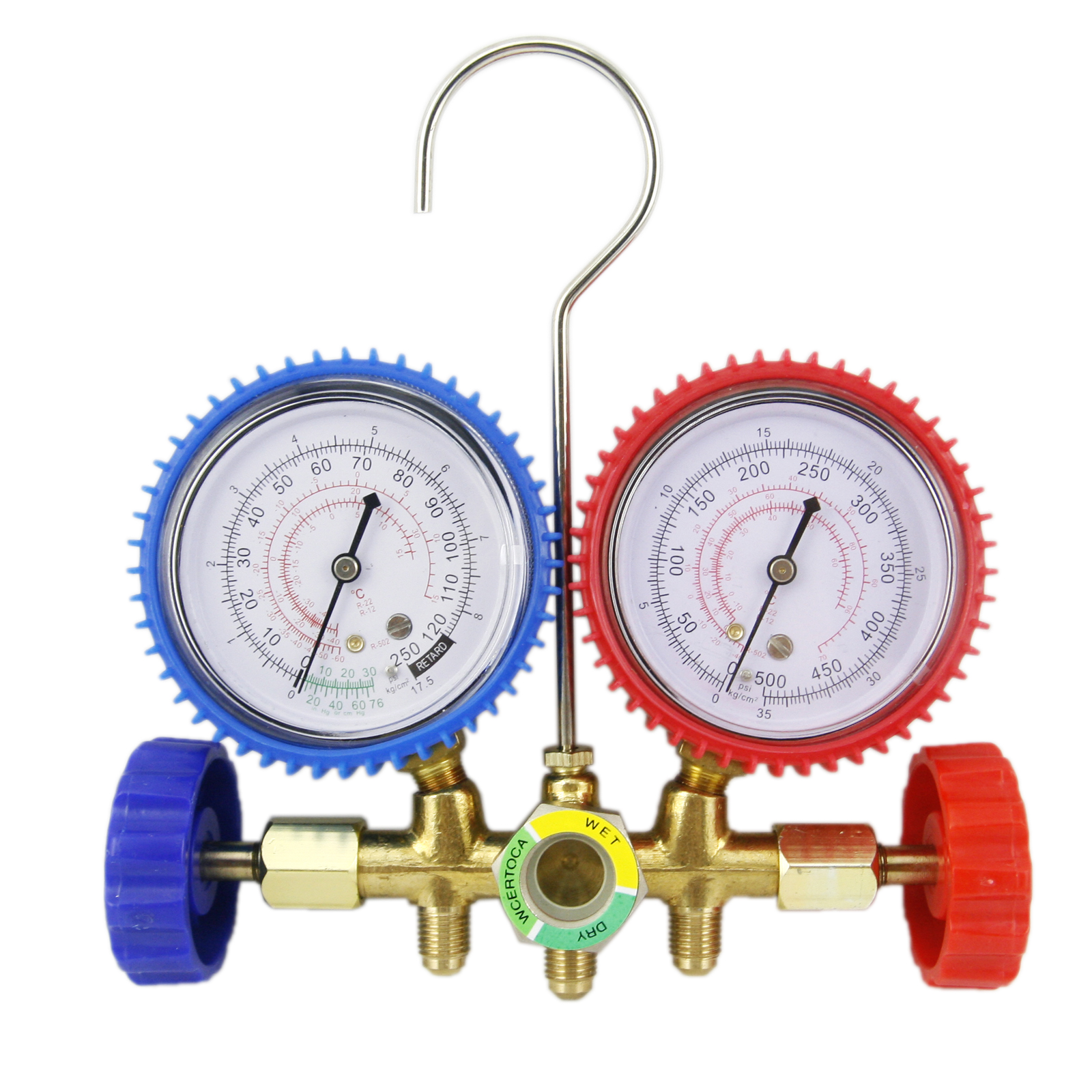 HVAC R12 R22 R502 Manifold Gauge Kit Refrigeration