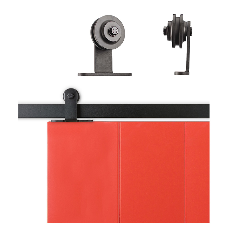 Sliding closet barn door hardware kit 6 6 feet steel track for Sliding barn door track and rollers